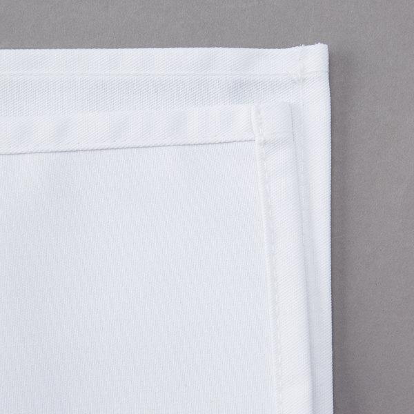 White Poly Cotton Cloth Napkins 12 Pack