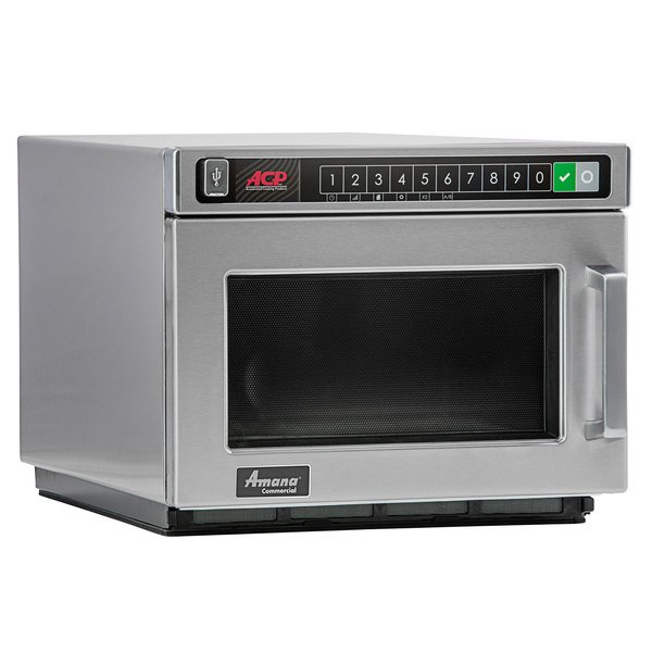 Amana HDC12A2 Heavy Duty Stainless Steel Commercial Microwave with Push Button Controls - 120V, 1200W Main Image 1
