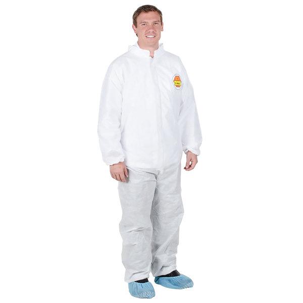 Premium White Disposable Polypropylene Coveralls - Medium
