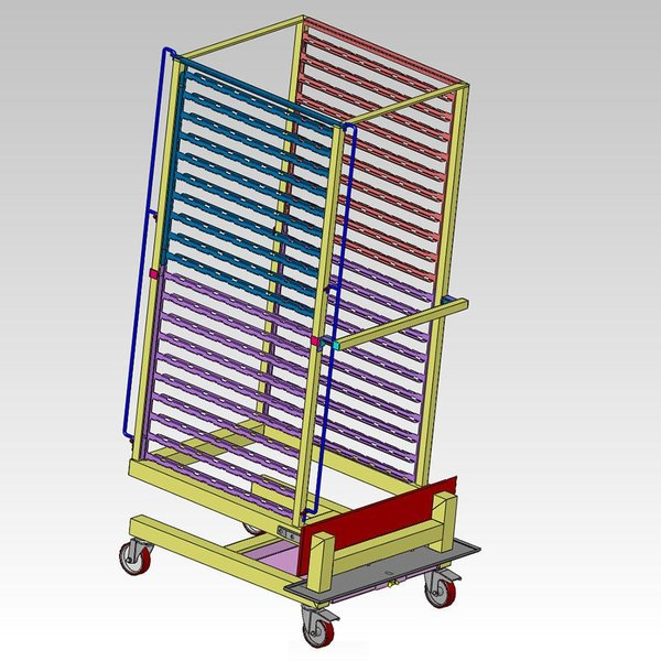 Alto-Shaam UN-27970 Roll-In Pan Cart Trolley for 20-20es and 20-20esG CombiMate Models