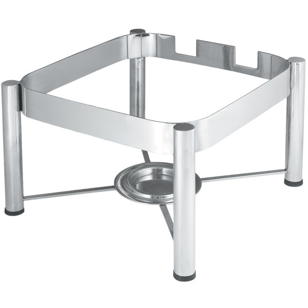 Vollrath 46113 Stainless Steel Chafer Stand for 6 Qt. Square Intrigue Induction Chafers Main Image 1