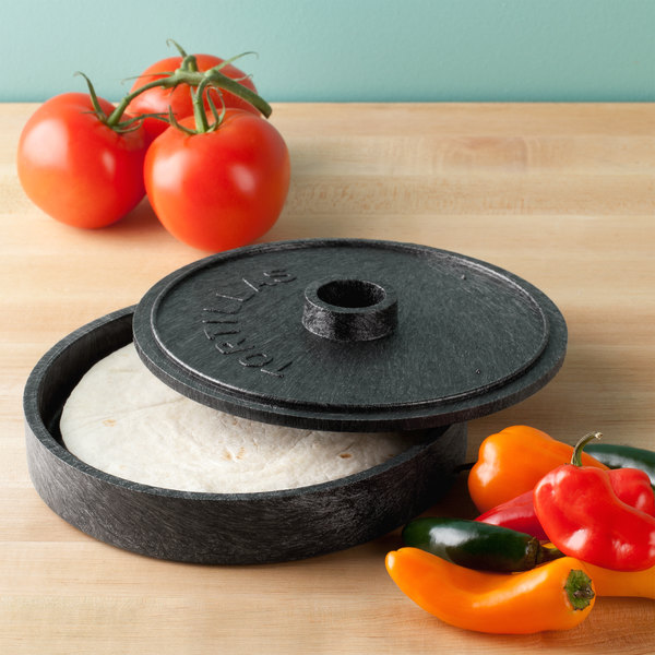 "HS Inc. NHS1000 7"" Charcoal Polyethylene Tortilla Server - 12/Case"