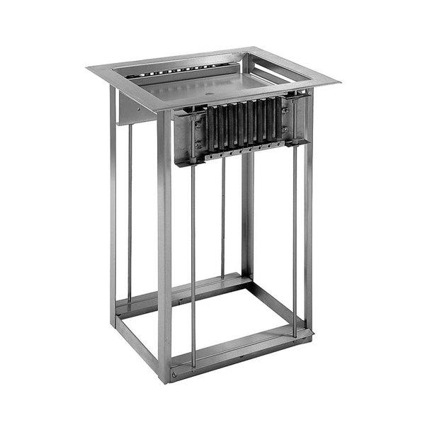 "Delfield LT-1221 Drop In Single Tray Dispenser for 12"" x 21"" Food Trays"