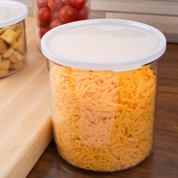 Cambro CCP27152 2.7 Qt. Clear Round Crock with Lid Main Image 2
