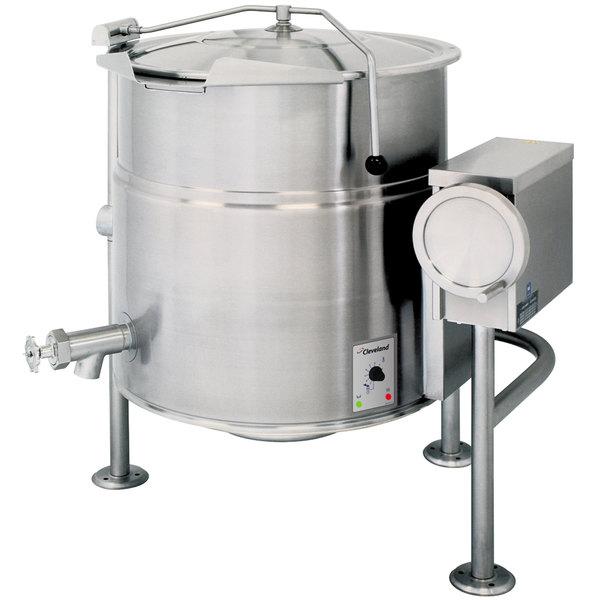 Cleveland KEL-40-T 40 Gallon Tilting 2/3 Steam Jacketed Electric Kettle - 208/240V