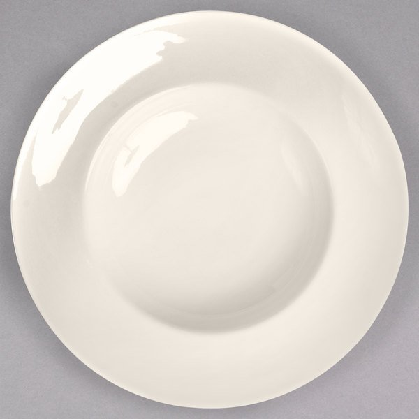 Homer Laughlin 18900 Unique 24 oz. Ivory (American White) China Mediterranean Pasta Bowl - 12/Case