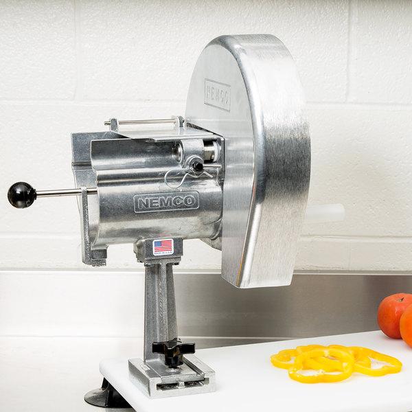 """Nemco 55200AN-8 Easy Slicer with 1/4"""" Fixed Cut Fruit / Vegetable Slicer"""