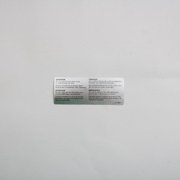 Alto-Shaam LA-2887 Caution Front Glass