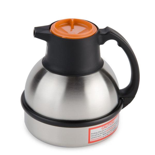 Bunn 36252.0001 Zojirushi 62 oz. Stainless Steel Deluxe Thermal Carafe - Orange Top