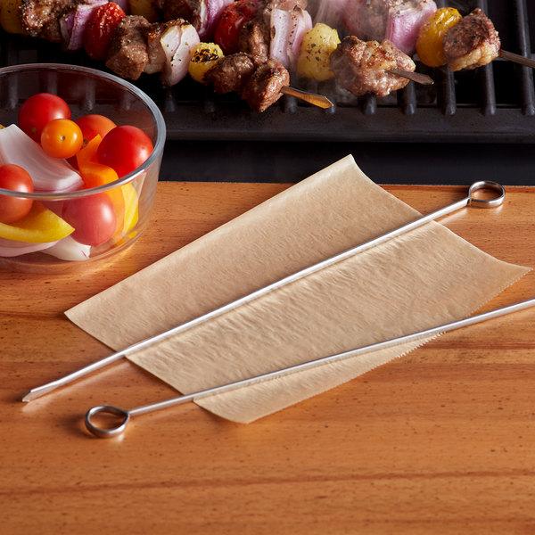 Set of 4 Slide /& Serve Skewers Grilling Sharp BBQ Grill N Serve Stainless Steel