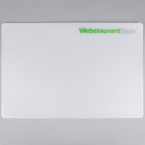 Choice 12 inch x 18 inch WebstaurantStore Logo Flexible Translucent Cutting Board  - 2/Pack