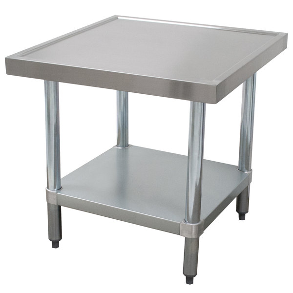 """Advance Tabco AG-MT-242 24"""" x 24"""" Stainless Steel Mixer Table with Galvanized Undershelf"""