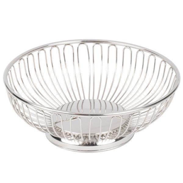 "American Metalcraft BSS11 11"" Round Stainless Steel Basket"