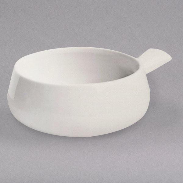 Hall China 6430AWHA Ivory (American White) 16 oz. Side Handle Soup Bowl - 24/Case