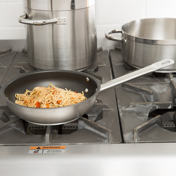 """Vollrath N3408 Centurion 8"""" Stainless Steel Non-Stick Fry Pan with Aluminum-Clad Bottom Main Image 2"""