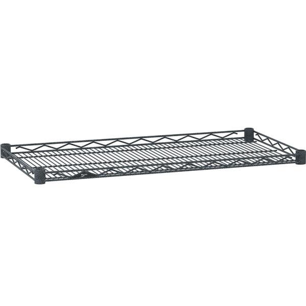 "Metro HDM1436-DSH Super Erecta Silver Hammertone Drop Mat Wire Shelf - 14"" x 36"""