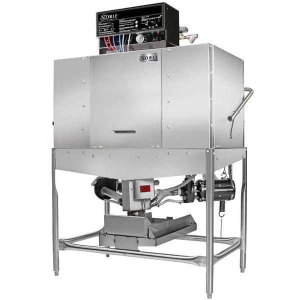 Noble Warewashing II Double Rack Low Temperature Corner Dishwasher - Left Side, 115V