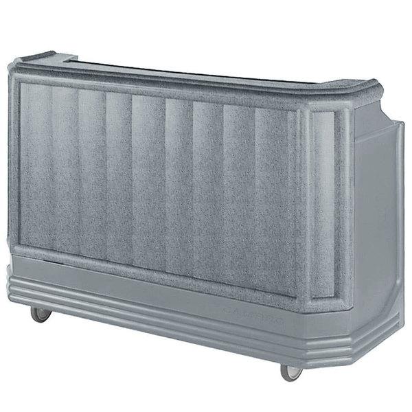 "Cambro BAR730PMT191 Granite Gray Cambar 73"" Post-Mix Portable Bar with 7 Bottle Speed Rail, Cold Plate, Soda Gun, and Water Tank Main Image 1"