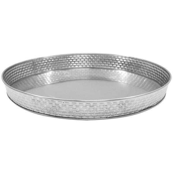 """Tablecraft GPSS10 Brickhouse 10 1/2"""" Round Stainless Steel Platter"""