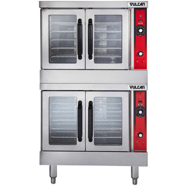 Vulcan VC55ED-208/1 Double Deck Full Size Electric Convection Oven - 208V, 1 Phase, 24 kW