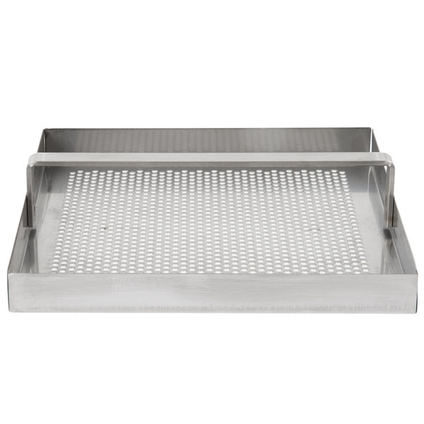 """FMP 102-1108 Stainless Steel Floor Sink Strainer with 3/4"""" Lip - 7 3/4"""" x 7 3/4"""" Main Image 1"""