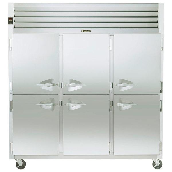 Traulsen G31300 3 Section Half Door Reach In Freezer - Left / Right / Right Hinged Doors Main Image 1