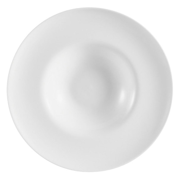 CAC FDP-11 Paris French 12 oz. Bone White Round Porcelain Pasta Bowl - 12/Case