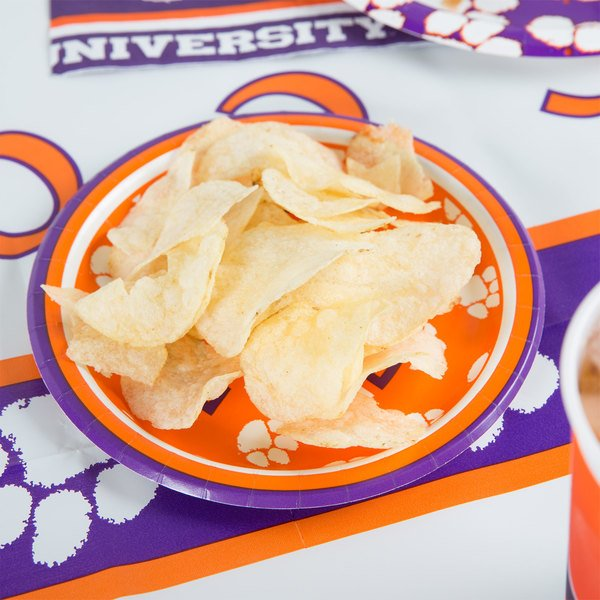 "Creative Converting 414831 7"" Clemson University Paper Plate - 96/Case"