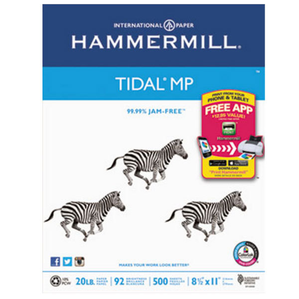 """Hammermill 162008 8 1/2"""" x 11"""" White Case of 20# Everyday Copy and Print Paper - 5000 Sheets"""
