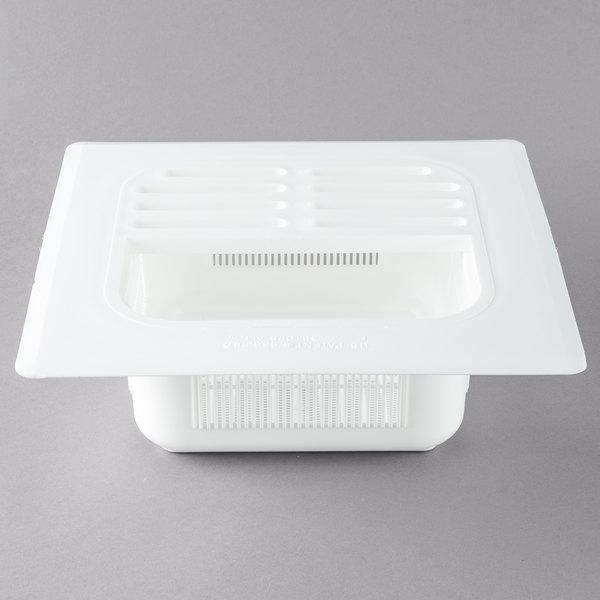 """FMP 102-1190 Plastic Floor Sink Strainer with 4"""" Deep Opening - 8"""" x 8"""""""