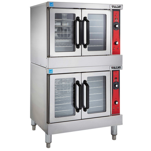 Vulcan VC55GD Natural Gas Double Deck Full Size Convection Oven - 100,000 BTU Main Image 1