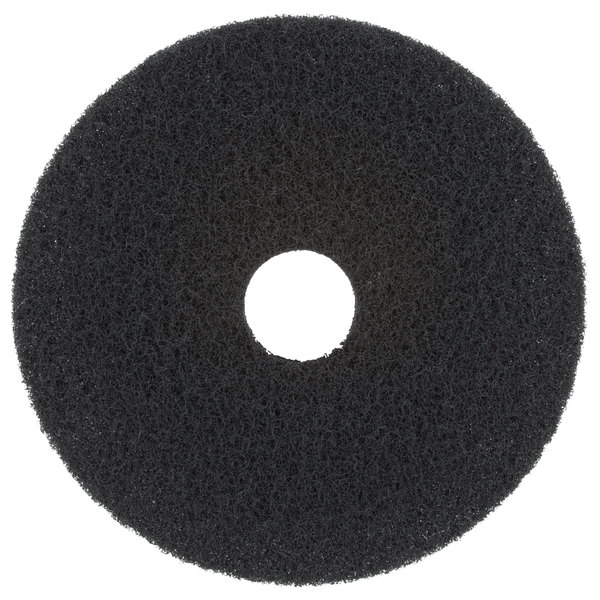 "Scrubble by ACS 72-17 Type 72 17"" Black Stripping Floor Pad"