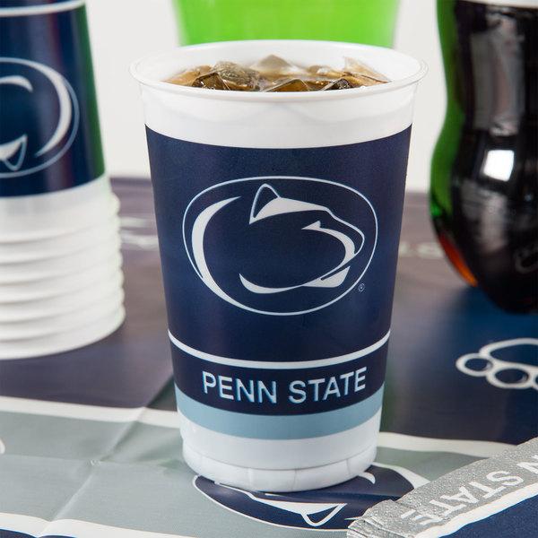 Creative Converting 374729 20 oz. Penn State University Plastic Cup - 96/Case