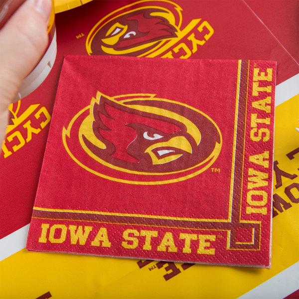 Creative Converting 654701 Iowa State University 2-Ply Beverage Napkin - 240/Case