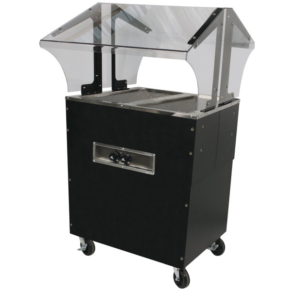 Advance Tabco B2-240-B-S-SB Enclosed Base Everyday Buffet Stainless Steel Two Pan Electric Hot Food Table with Stainless Steel Liners - Open Well - 208/240V Main Image 1