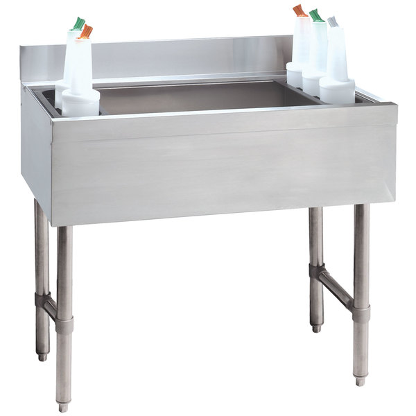 "Advance Tabco CRI-12-42-10 Stainless Steel Underbar Ice Bin with 10-Circuit Cold Plate - 42"" x 21"" Main Image 1"