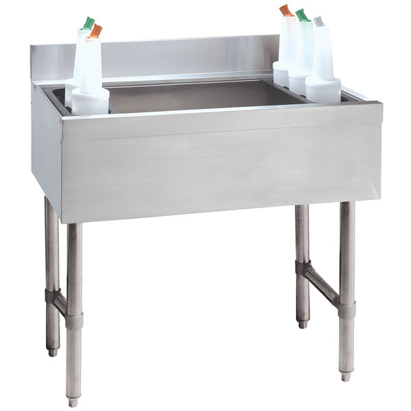 """Advance Tabco CRI-12-30-10 Stainless Steel Underbar Ice Bin with 10-Circuit Cold Plate - 30"""" x 21"""" Main Image 1"""