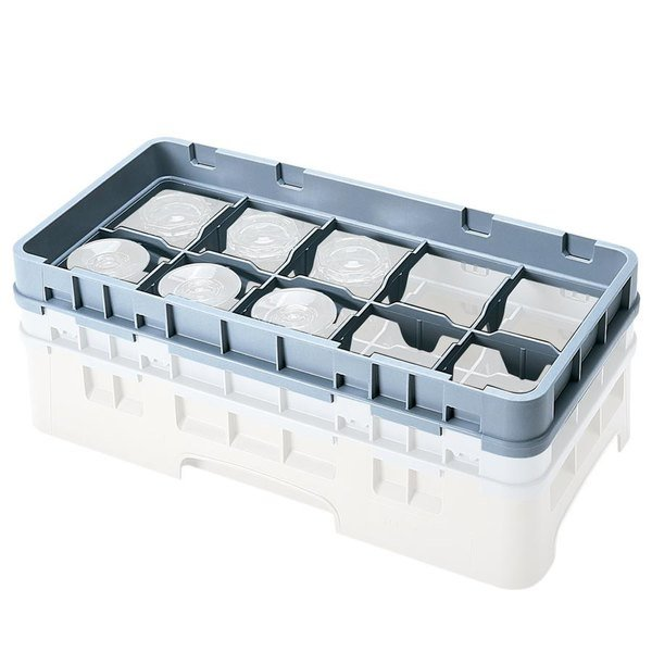 Cambro 8HE2151 Soft Gray 8 Compartment Half Size Half Drop Camrack Extender Main Image 1