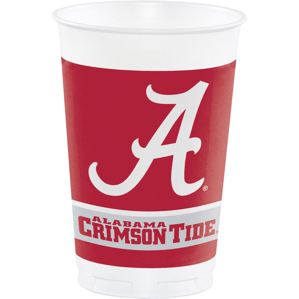 Creative Converting 374697 20 oz. University of Alabama Plastic Cup - 96/Case Main Image 1