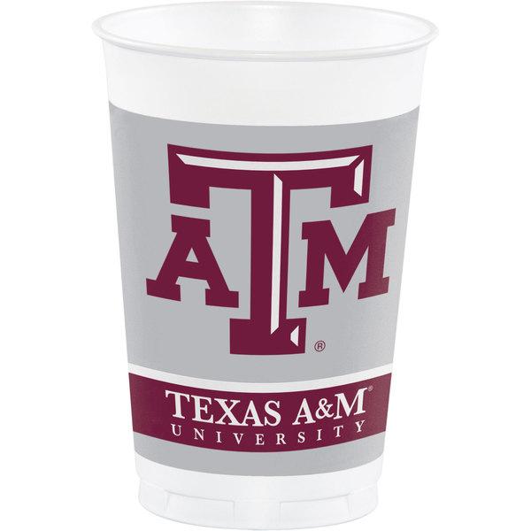 Creative Converting 014848 20 oz. Texas A&M University Plastic Cup - 96/Case