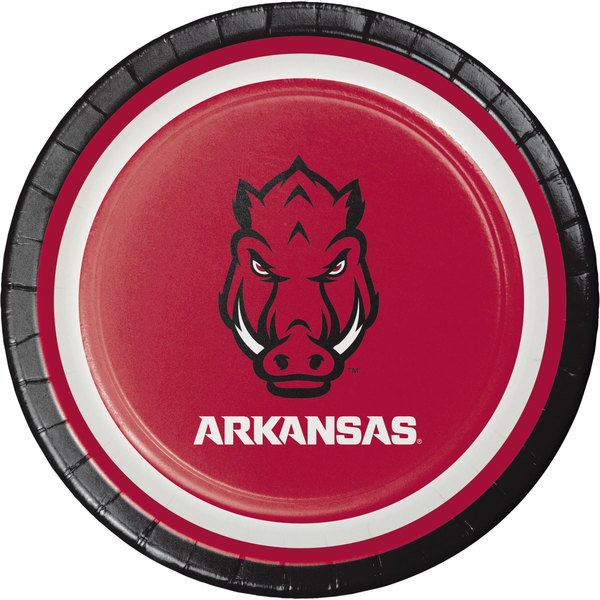 "Creative Converting 419855 7"" University of Arkansas Paper Plate - 96/Case"