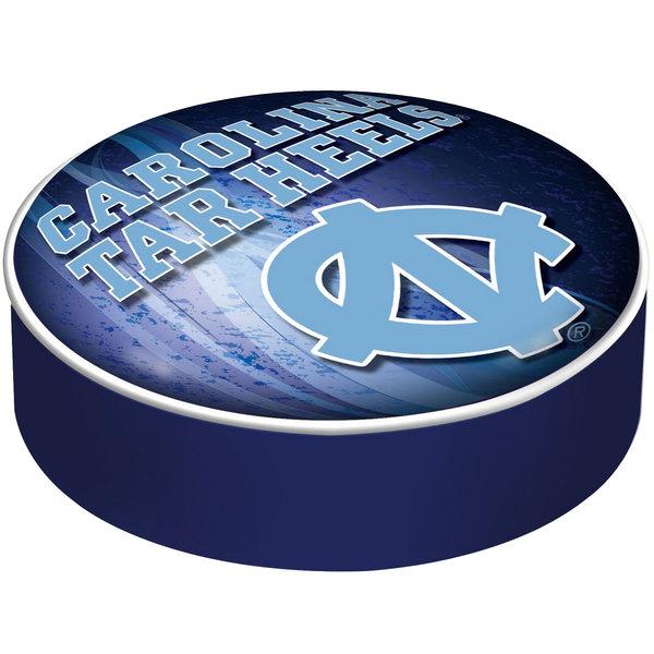 "Holland Bar Stool BSCNorCar-D2 14 1/2"" University of North Carolina Vinyl Bar Stool Seat Cover"