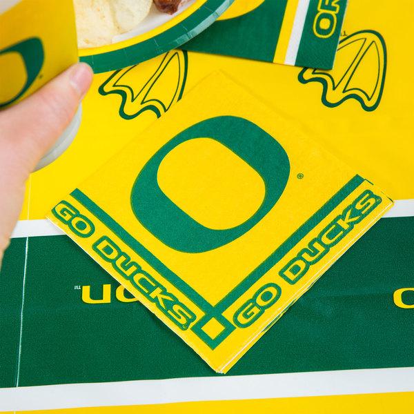 Creative Converting 654907 University of Oregon 2-Ply Beverage Napkin - 240/Case