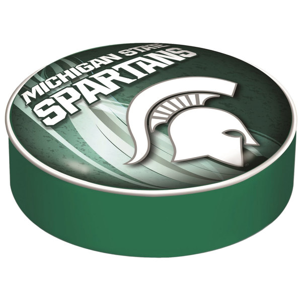 "Holland Bar Stool BSCMichSt-D2 14 1/2"" Michigan State University Vinyl Bar Stool Seat Cover Main Image 1"