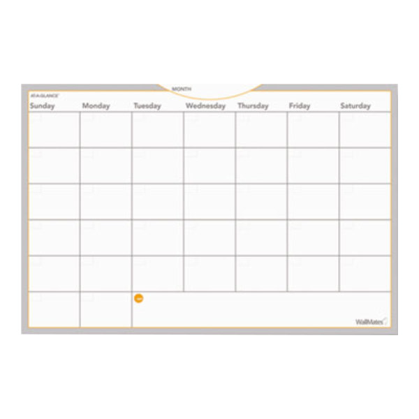 """At-A-Glance AW602028 WallMates 24"""" x 36"""" Self-Adhesive Dry Erase Monthly Planning Surface Main Image 1"""