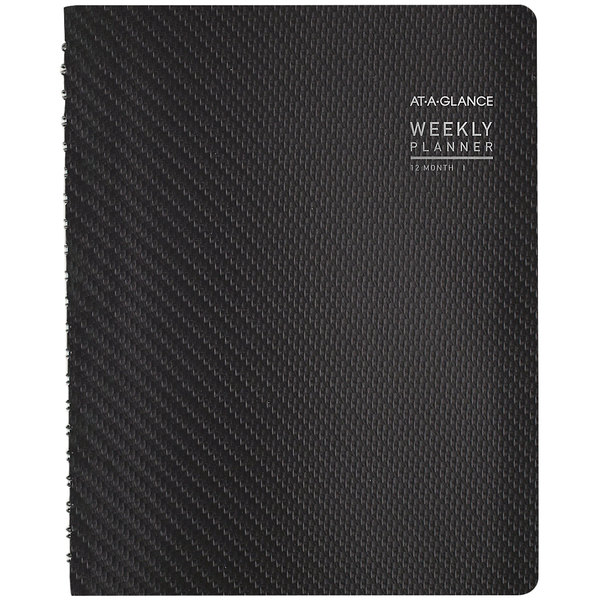 """At-A-Glance 70950X45 8 1/2"""" x 11"""" Graphite January 2020 - December 2020 Contemporary Weekly / Monthly Planner"""