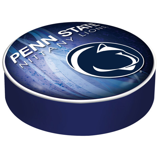 "Holland Bar Stool BSCPennSt-D2 14 1/2"" Penn State University Vinyl Bar Stool Seat Cover"