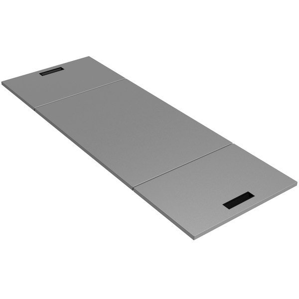 "Advance Tabco HC-3 Hinged Stainless Steel Cover - 43 7/8"" x 21 1/2"""