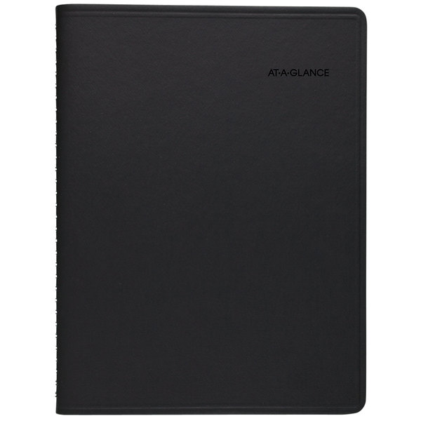 "At-A-Glance 7695005 8 1/4"" x 10 7/8"" Black January 2020 - December 2020 QuickNotes Weekly / Monthly Appointment Book"