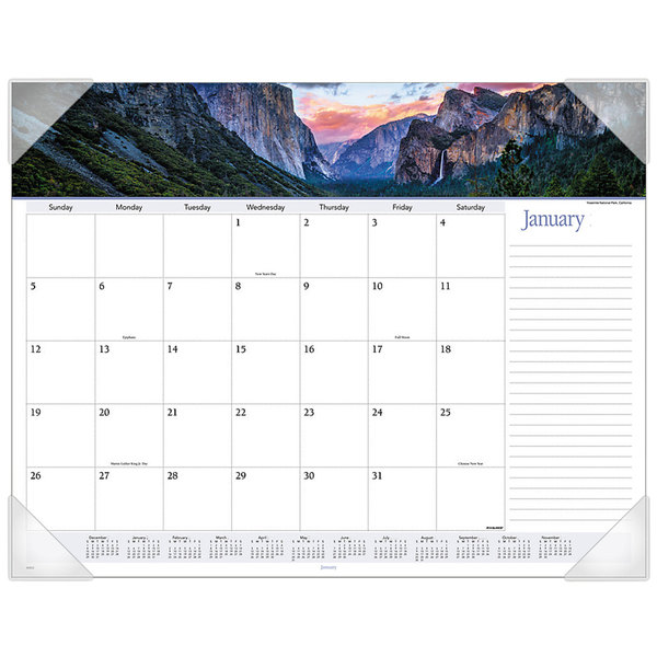"""At-A-Glance 89802 22"""" x 17"""" Landscape Panoramic Monthly January 2020 - December 2020 Desk Pad Calendar"""